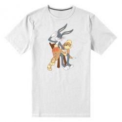 Мужская стрейчевая футболка Бакс Банни - FatLine