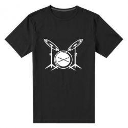Мужская стрейчевая футболка Барабанная установка - FatLine