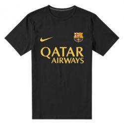 Мужская стрейчевая футболка Барселона - FatLine