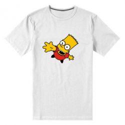 Мужская стрейчевая футболка Барт Симпсон
