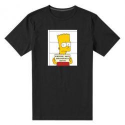 Мужская стрейчевая футболка Барт в тюряге - FatLine
