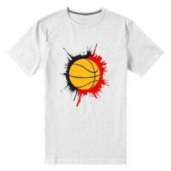 Мужская стрейчевая футболка Баскетбольный мяч - FatLine