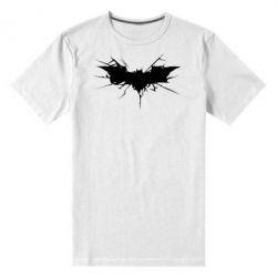 Мужская стрейчевая футболка Batman cracks - FatLine