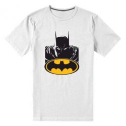 Мужская стрейчевая футболка Batman face - FatLine