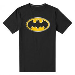 Мужская стрейчевая футболка Batman Gold Logo - FatLine