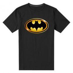 Мужская стрейчевая футболка Batman logo Gold - FatLine