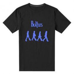Мужская стрейчевая футболка Beatles Group - FatLine