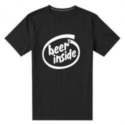 Мужская стрейчевая футболка Beer Inside - FatLine
