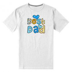 Мужская стрейчевая футболка Best Dad - FatLine