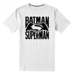Мужская стрейчевая футболка Бэтмен vs. Супермен - FatLine