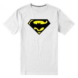 Мужская стрейчевая футболка БэтСупермен - FatLine