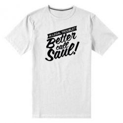 Мужская стрейчевая футболка Better call Saul! - FatLine