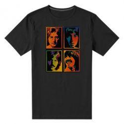 Мужская стрейчевая футболка Битлы
