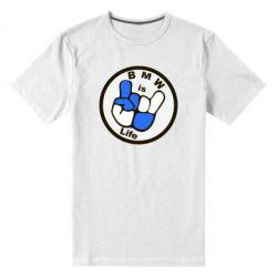 Мужская стрейчевая футболка BMW is Life - FatLine