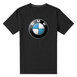 Мужская стрейчевая футболка BMW Logo 3D - FatLine