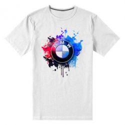 Мужская стрейчевая футболка BMW logo art 2 - FatLine