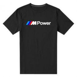 Мужская стрейчевая футболка BMW M Power logo - FatLine
