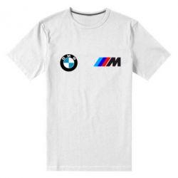 Мужская стрейчевая футболка BMW M - FatLine