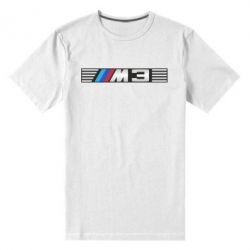 Мужская стрейчевая футболка BMW M3 - FatLine