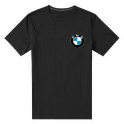 Мужская стрейчевая футболка BMW Small - FatLine