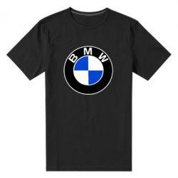 Мужская стрейчевая футболка BMW - FatLine