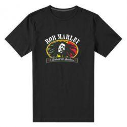 Мужская стрейчевая футболка Bob Marley A Tribute To Freedom - FatLine