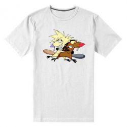 Мужская стрейчевая футболка Бобры обнимашки