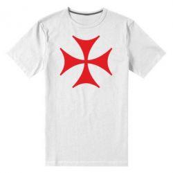 Мужская стрейчевая футболка Болнисский крест - FatLine