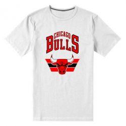 Мужская стрейчевая футболка Большой логотип Chicago Bulls - FatLine