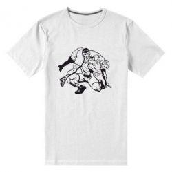 Мужская стрейчевая футболка Борцы - FatLine