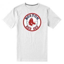 Мужская стрейчевая футболка Boston Red Sox - FatLine