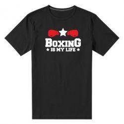 Чоловіча стрейчева футболка Boxing is my life
