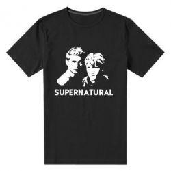 Мужская стрейчевая футболка Братья Винчестеры Сверхъестественное - FatLine