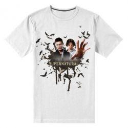 Мужская стрейчевая футболка Братья - FatLine