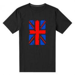 Мужская стрейчевая футболка Британский флаг - FatLine