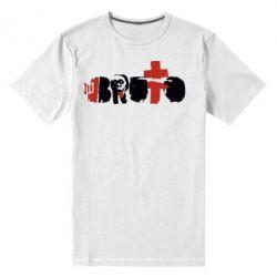 Мужская стрейчевая футболка Брутто Лого - FatLine