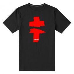 Мужская стрейчевая футболка Brutto Logo - FatLine