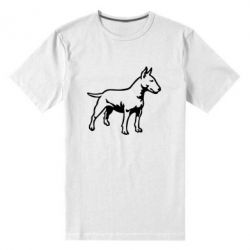 Мужская стрейчевая футболка Бультерьер - FatLine