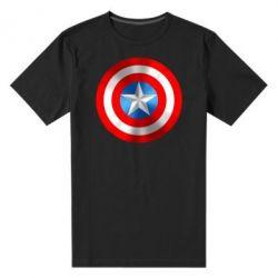 Мужская стрейчевая футболка Captain America 3D Shield - FatLine