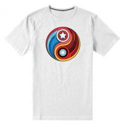 Мужская стрейчевая футболка Captain America & Iron Man - FatLine