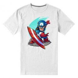 Мужская стрейчевая футболка Cartoon Captain America - FatLine