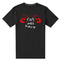 Мужская стрейчевая футболка Cas was here - FatLine
