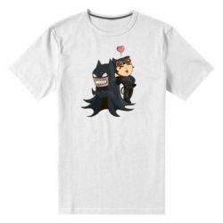 Мужская стрейчевая футболка Catwoman and Angry Batman - FatLine
