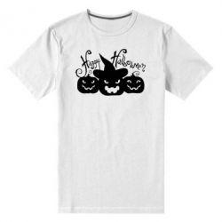 Мужская стрейчевая футболка Cчастливого Хэллоуина - FatLine