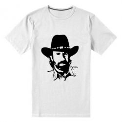 Мужская стрейчевая футболка Чак Норис - FatLine