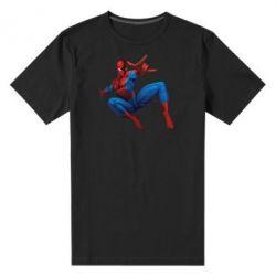 Мужская стрейчевая футболка Человек Паук - FatLine