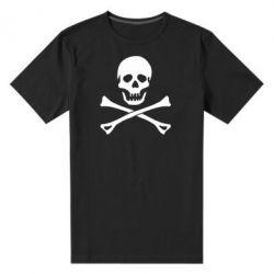 Чоловіча стрейчева футболка Череп та кістки