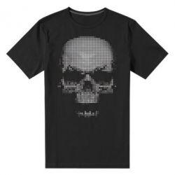 Мужская стрейчевая футболка Череп из пикселей - FatLine