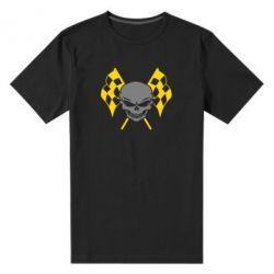 Мужская стрейчевая футболка Череп Стрит Рейсинг - FatLine