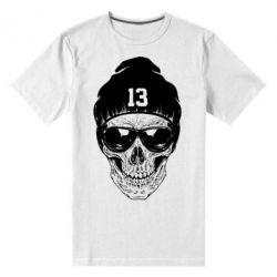 Мужская стрейчевая футболка Череп в шапке - FatLine